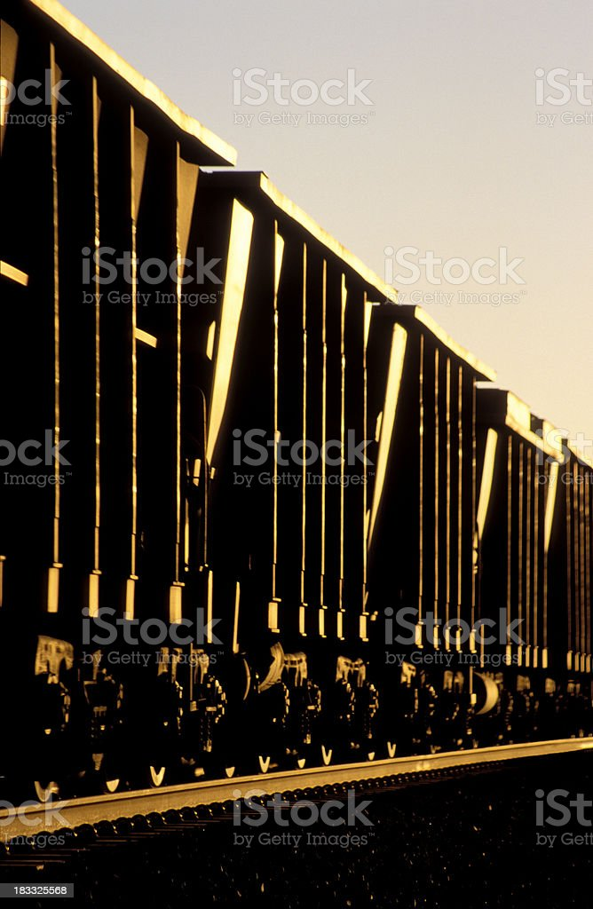 Mineral gold - moving tonnes of iron ore royalty-free stock photo