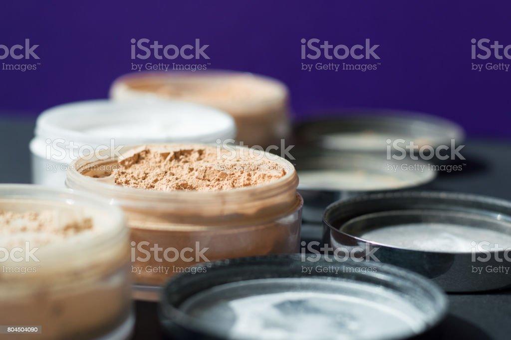Mineral make up powder for matt skin stock photo