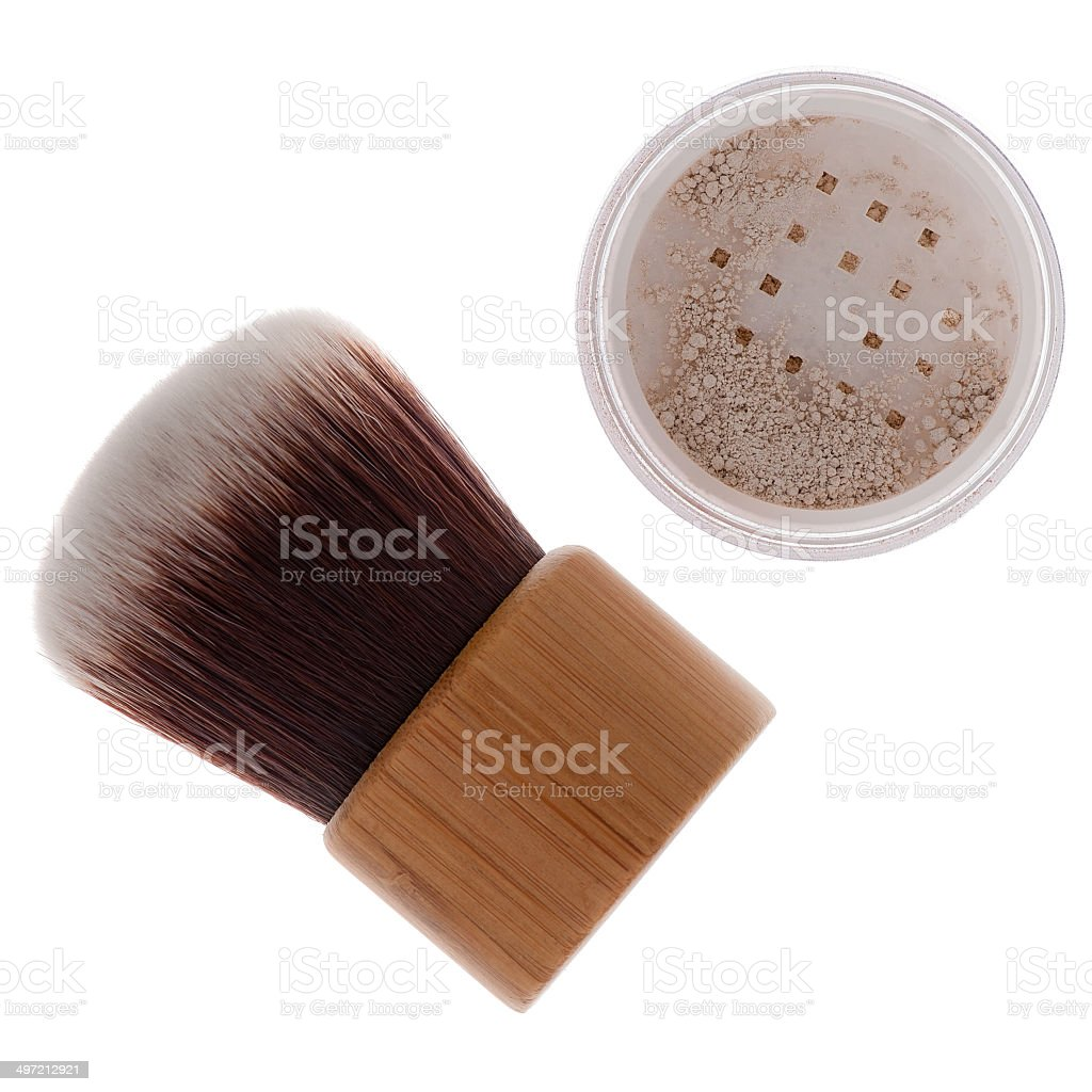 Mineral make-up isolated stock photo
