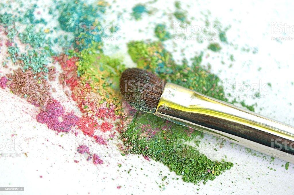 Mineral make-up royalty-free stock photo