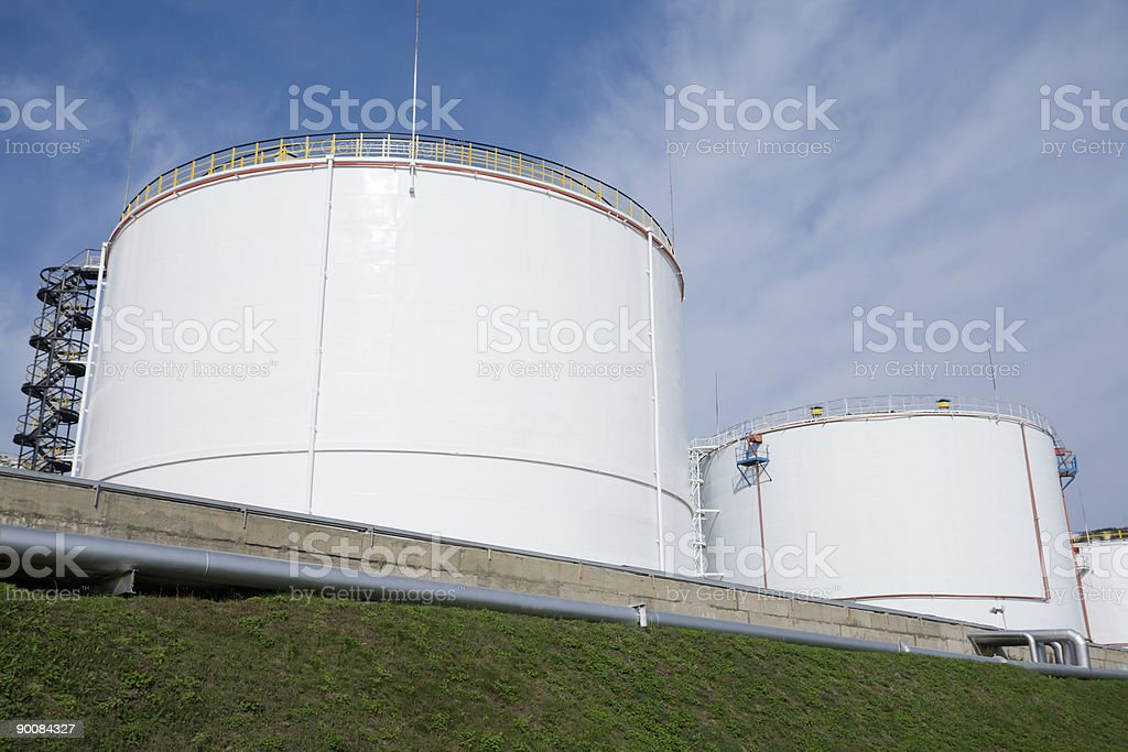 mineral oil storage royalty-free stock photo