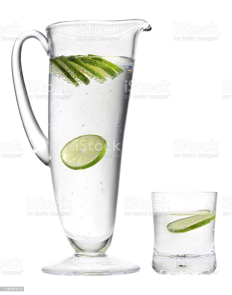 Mineral water and lemon. royalty-free stock photo