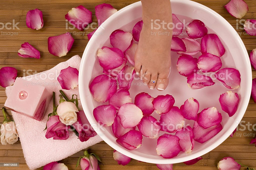 Mineral water Bath royalty-free stock photo