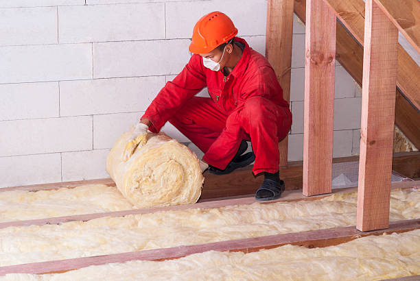mineral wool packing working insulates the attic with mineral wool attic stock pictures, royalty-free photos & images