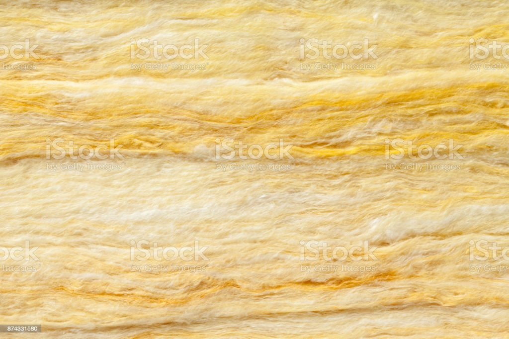 Mineral wool thermal insulation textured background stock photo