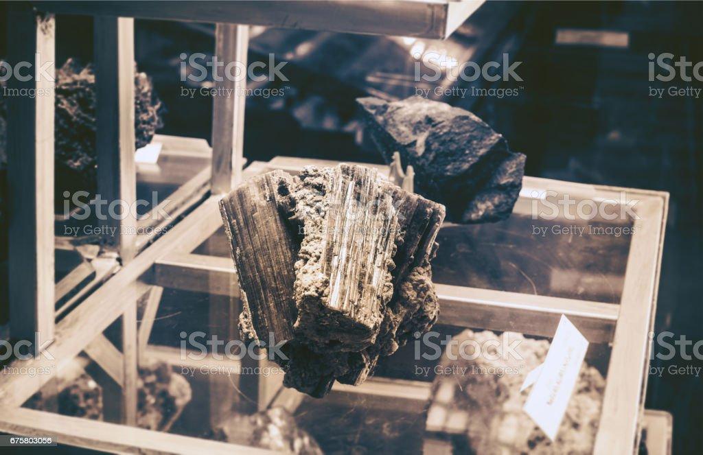mineralogical laboratory stock photo
