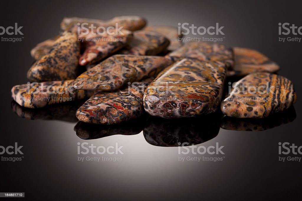 Minerals and crystals - Leopard Jasper stock photo
