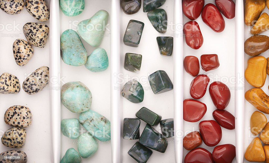 Minerals and crystals - Many kinds stock photo
