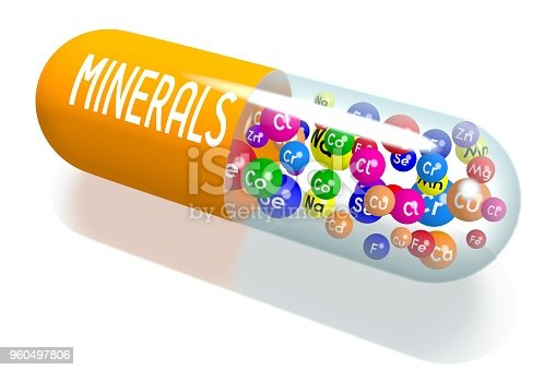 Minerals concept - orange capsule- great for topics like diet, supplements, nutrition etc.