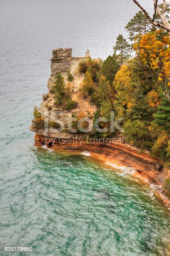 136169151istockphoto Miners Castle ablaze with fall color 639179950