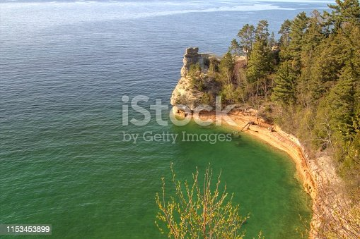 136169151 istock photo Miners Castle At Pictured Rocks National Lakeshore 1153453899