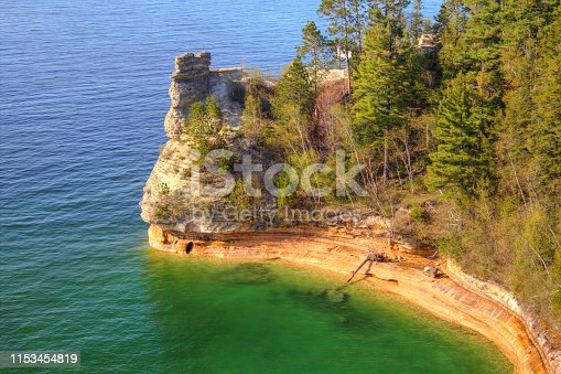 136169151 istock photo Miners Castle At Pictured Rocks National Lakeshore 1153454819