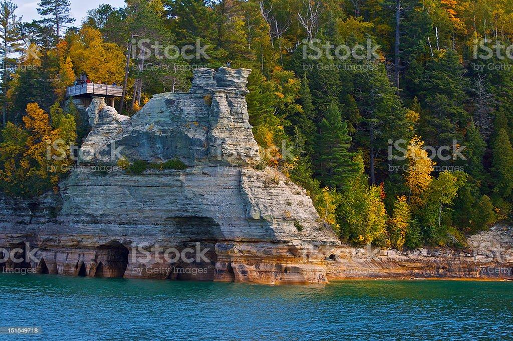Miners Castle Cove stock photo