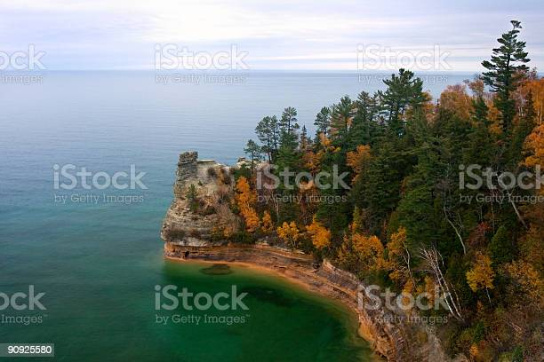 Miners Castle in Fall Colors