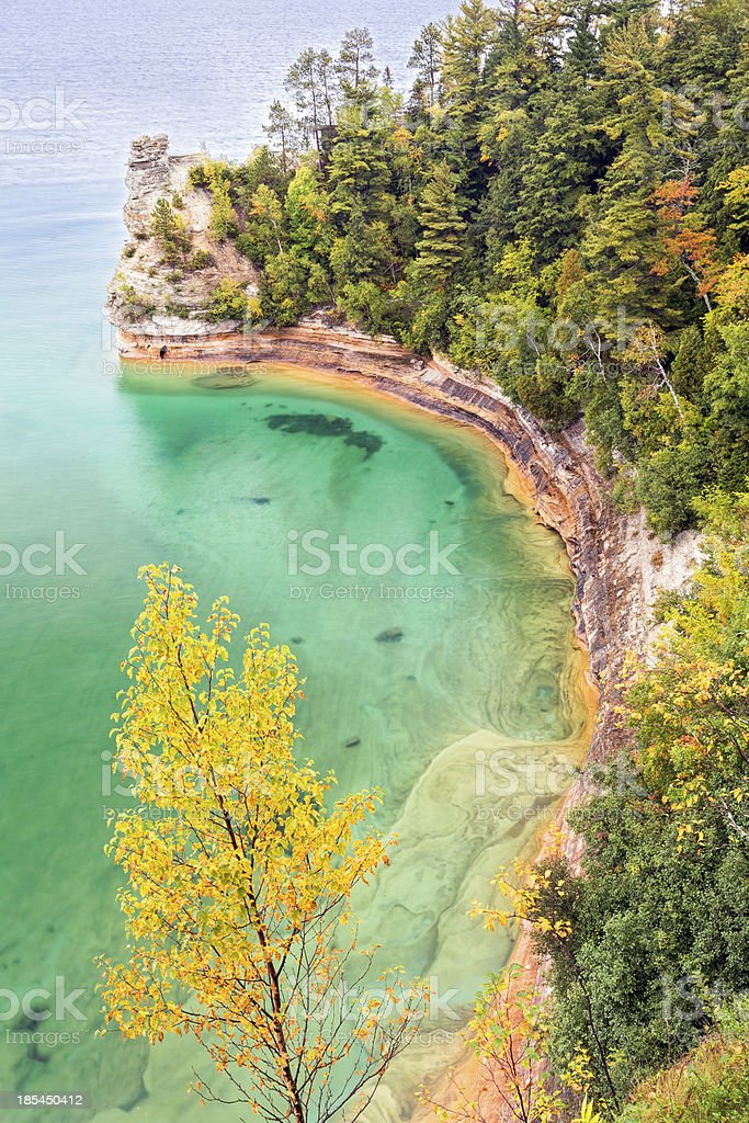 Miner's Castle on Lake Superior stock photo