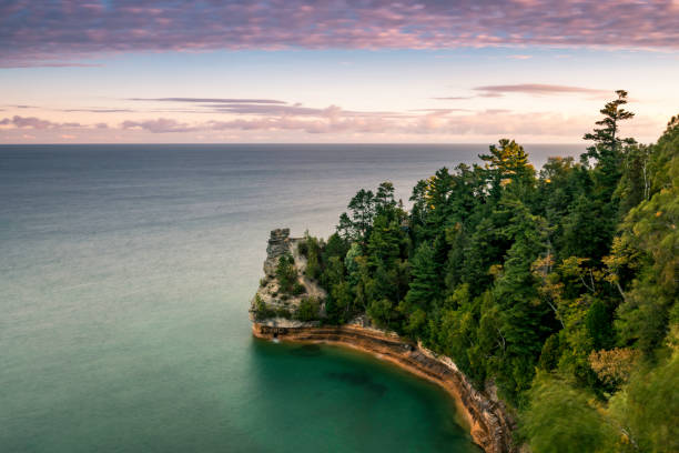 miners castle - lakeshore stock photos and pictures