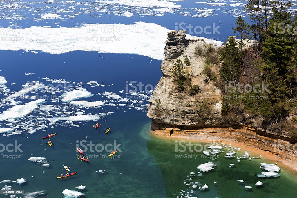 Miners Castle - Pictured Rocks National Lakeshore stock photo