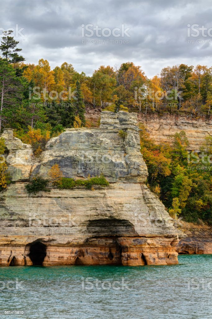 Miners Castle, Pictured Rocks National Lakeshore stock photo