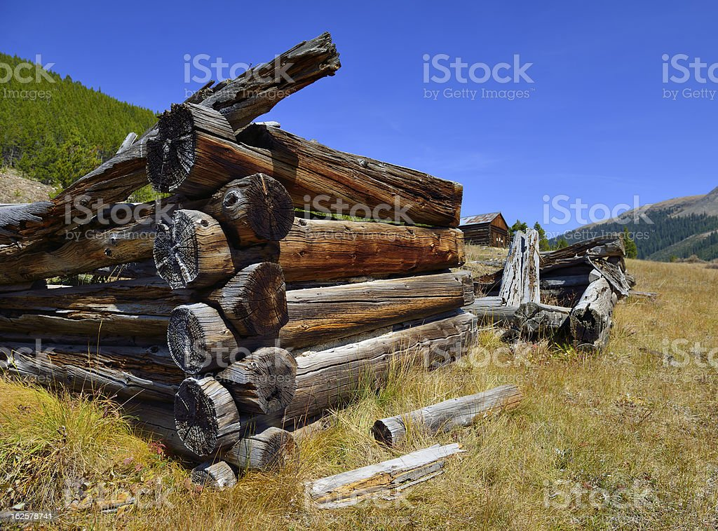 miners house in the ghost town Colorado royalty-free stock photo