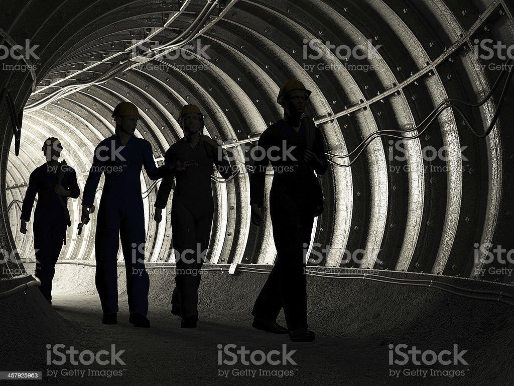 miners stock photo