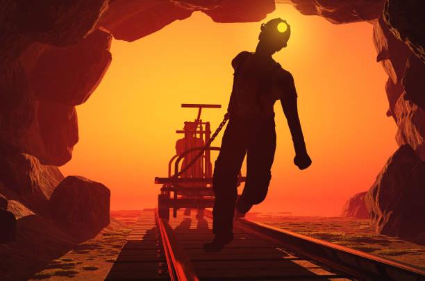 Mineros. - foto de stock