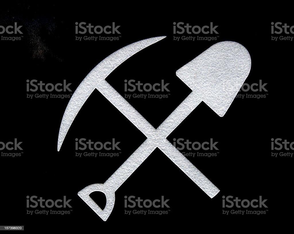 Miners' Symbols royalty-free stock photo
