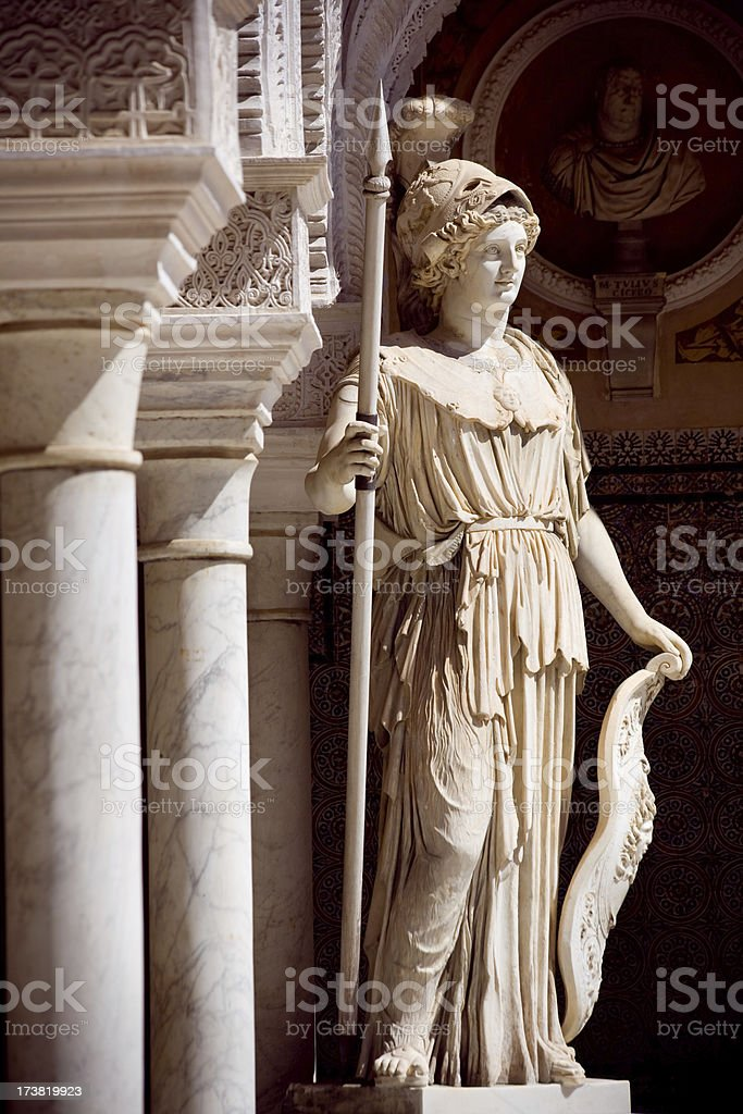 Minerva statue in Spain royalty-free stock photo