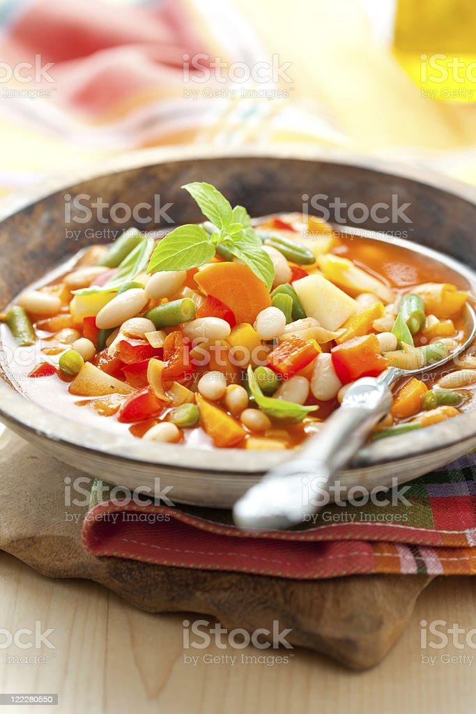 minestrone stock photo