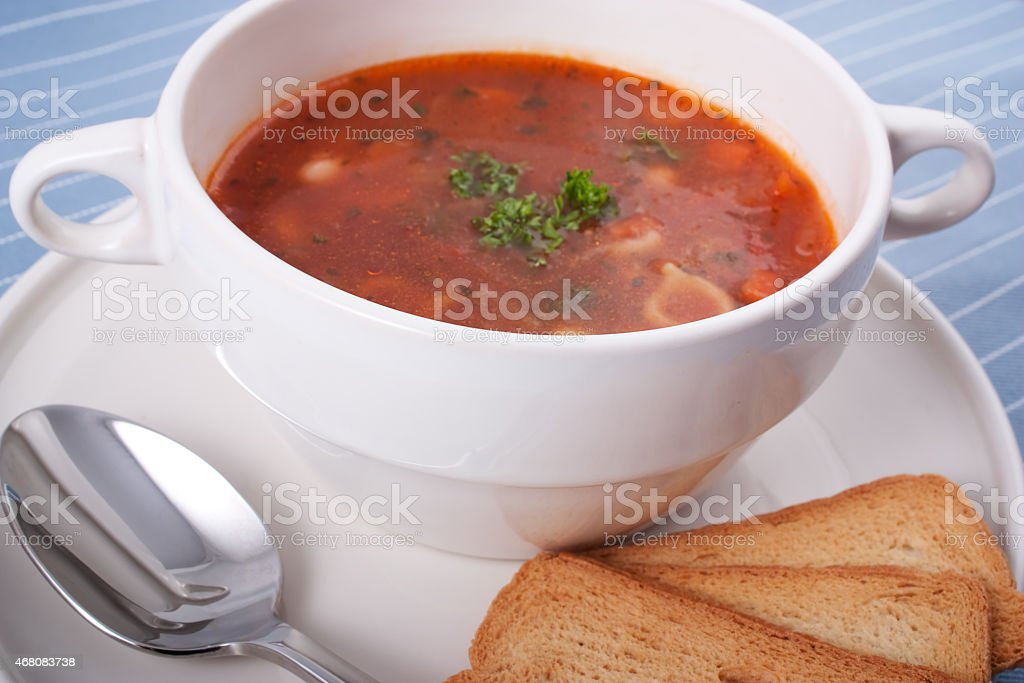 Minestrone Soup for Lunch stock photo
