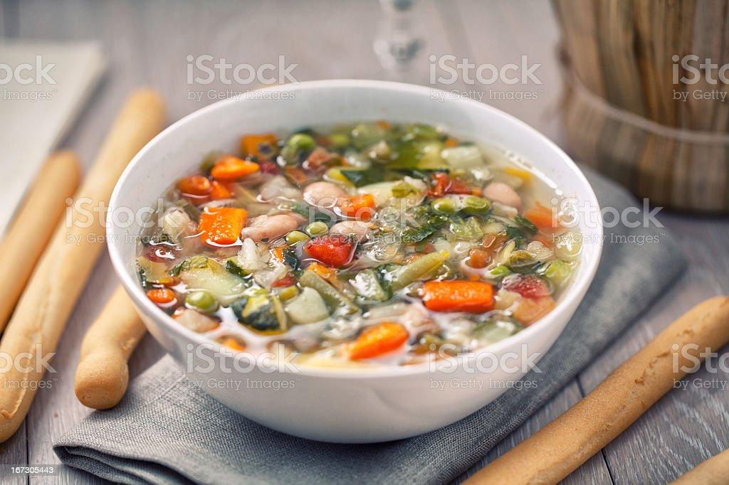Minestrone Soup stock photo