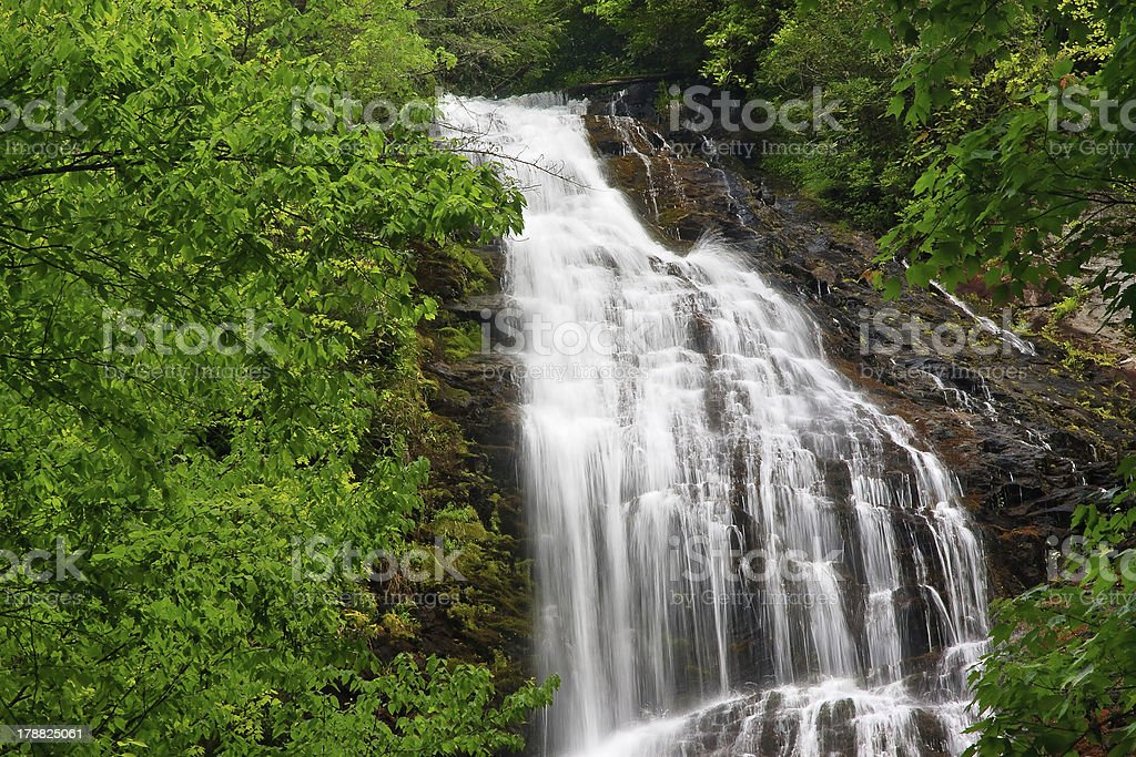 Mingo Falls in the Summer royalty-free stock photo