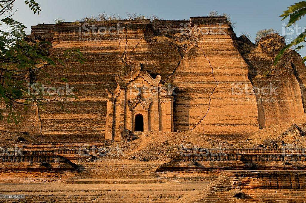 Mingun Pahtodawgyi Stupa in Mingun Mandalay Myanmar stock photo