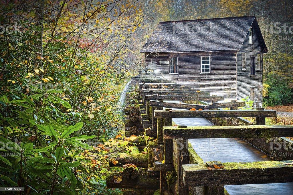 Mingus Mill, Oconaluftee, Cherokee, North Carolina, USA stock photo