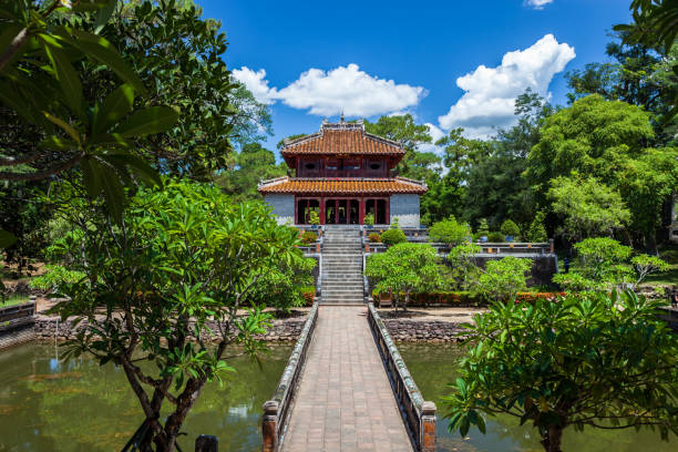 Minh Mang Tomb in Hue, Vietnam Hue, Vietnam khai dinh tomb stock pictures, royalty-free photos & images