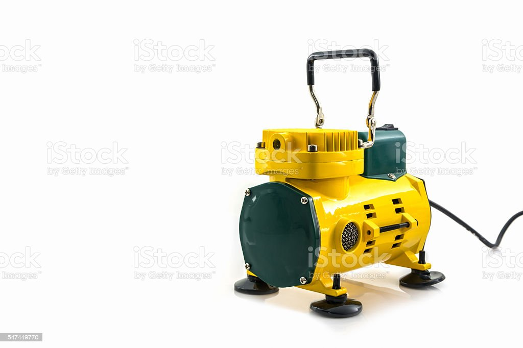 Mini air compressor. stock photo