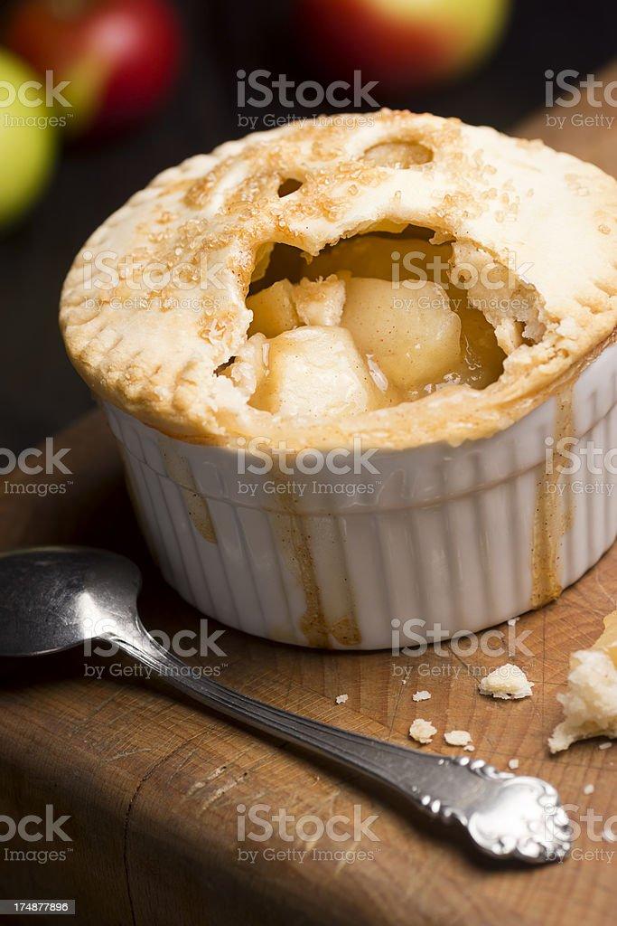 Mini Apple Pie with Bite Taken Out royalty-free stock photo