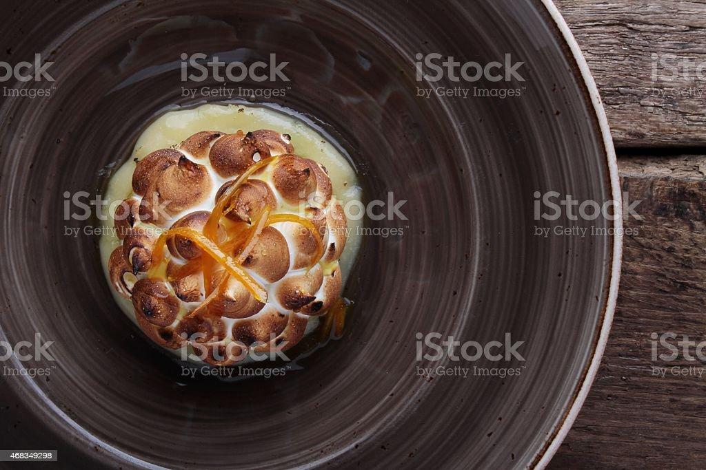 mini baked alaska dessert pudding royalty-free stock photo
