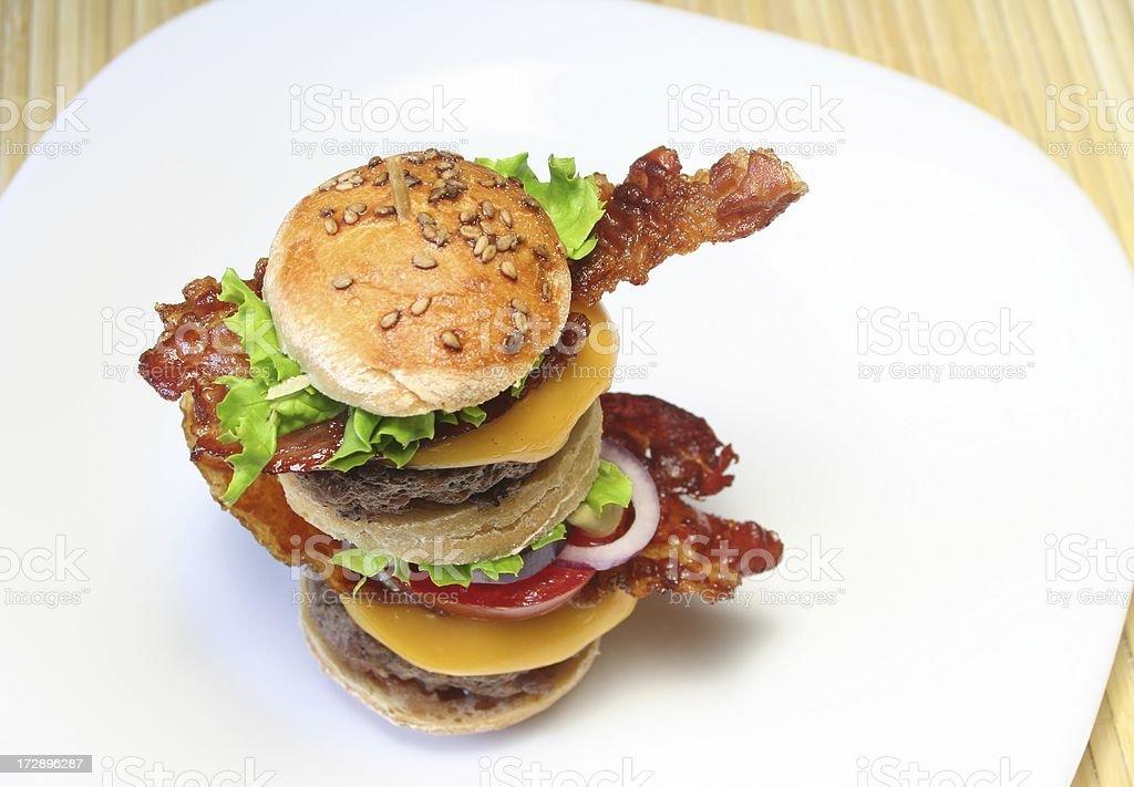 Mini Burger royalty-free stock photo
