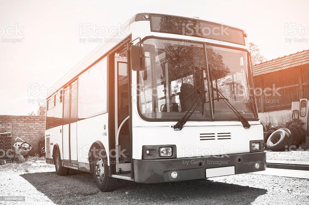 Mini bus stock photo