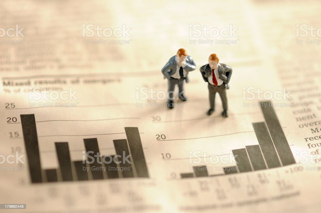 mini business men stock photo