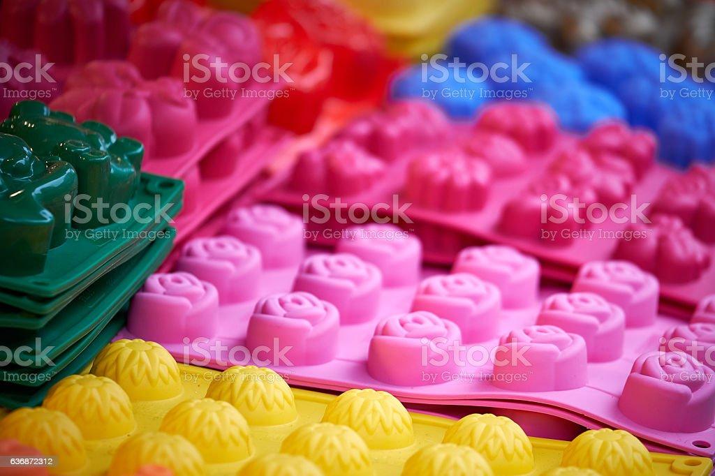 Mini cake molds stock photo
