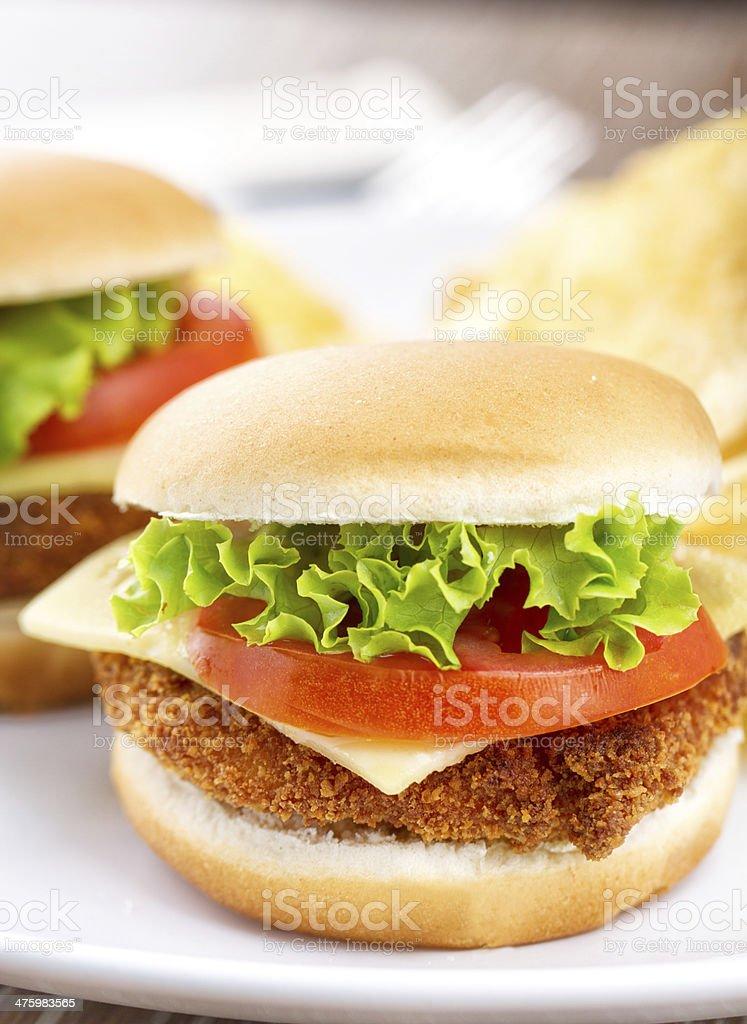 Mini Chicken Burger royalty-free stock photo