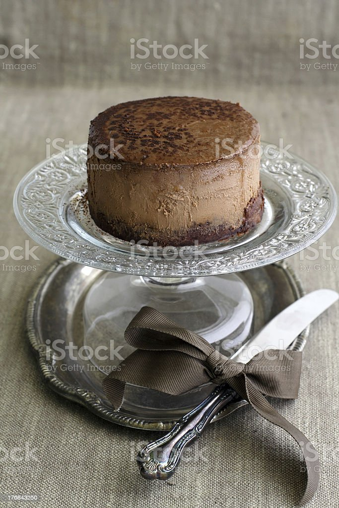 mini chocolate cheesecake royalty-free stock photo