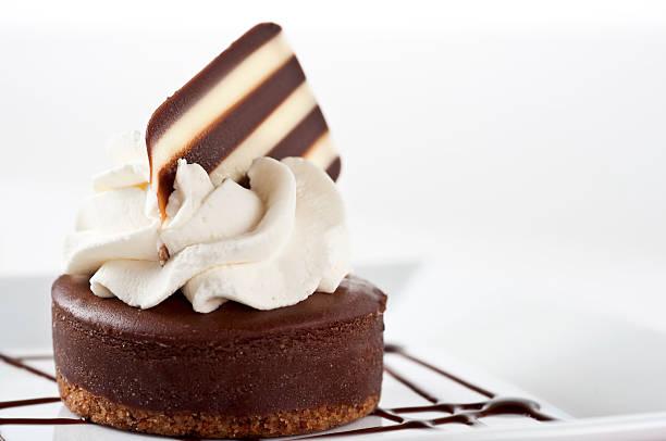 Mini Chocolate Cheesecakes stock photo