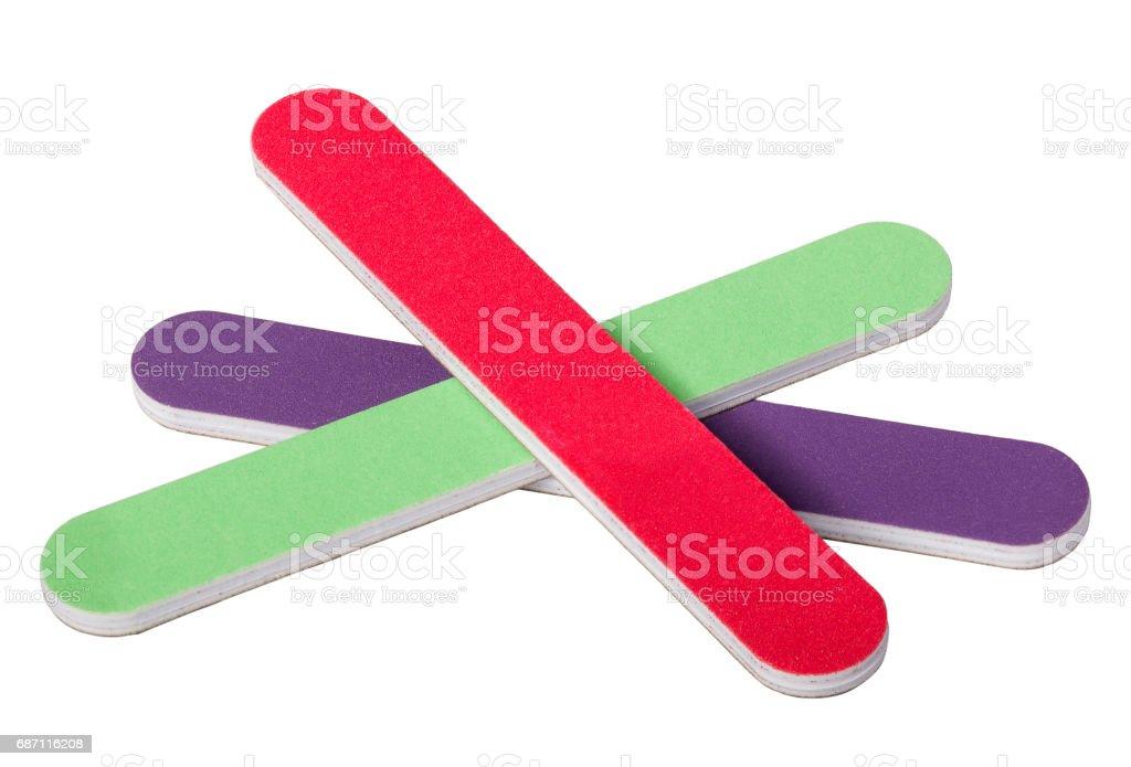 Color Mini Nailfile Utilizado Para Alisar Y Dar Forma A Las