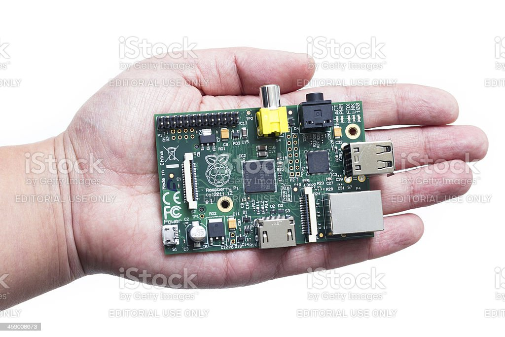 Mini Computer Raspberry Pi stock photo