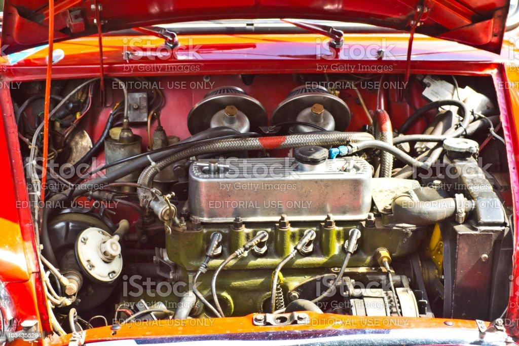 Mini Cooper Engine Compartment Stock Photo More Pictures Of Austin