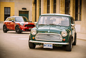 Mini Cooper Generations in spring time