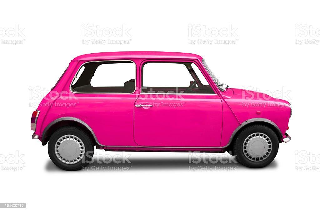 Mini Cooper pink stock photo