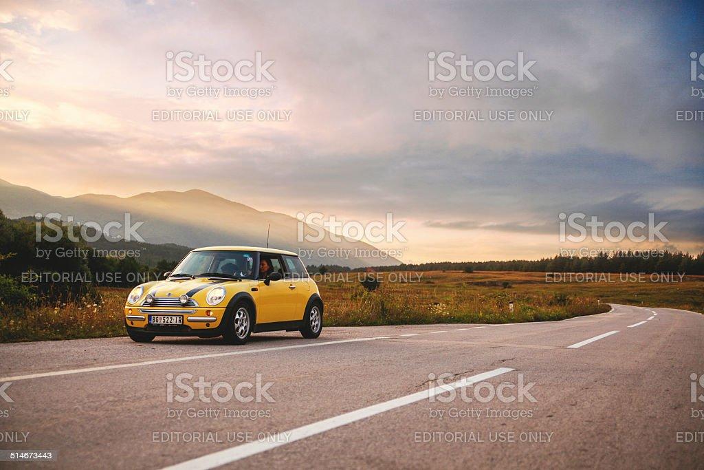Mini Cooper Roadtrip stock photo